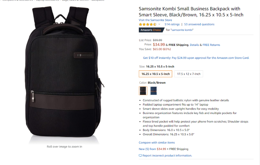 Amazon-com-Samsonite-Kombi-Small-Business-Backpack-with-Smart-Sleeve-Black-Brown-16-25-x-10-5-x-5-Inch-Casual-Daypacks.png