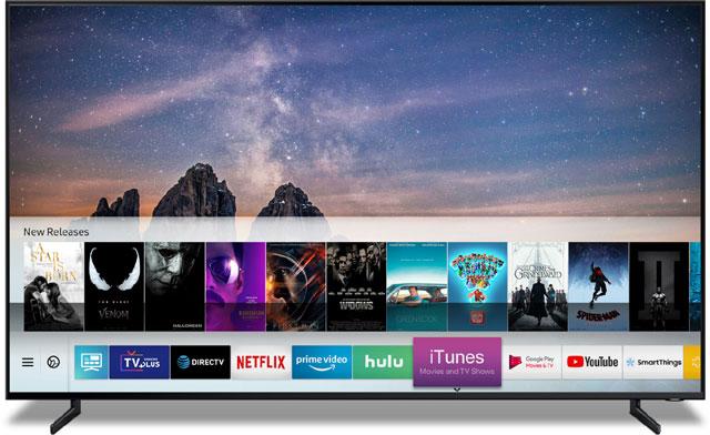 삼성전자는 애플과 협력해 업계 최초로 스마트 TV에 아이튠즈와 에어플레이2를 동시 탑재한다고 7일 밝혔다. /삼성전자 제공