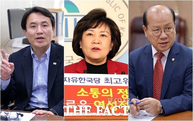 5·18 망언 3인 왼쪽부터 김진태·김순례·이종명 의원. /더팩트DB