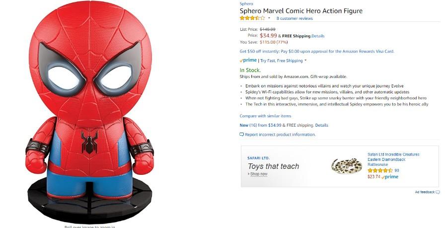 뽐뿌:해외뽐뿌 - [Amazon] Sphero Marvel Comic Hero Action Figure(34.99/직배12.32) [Amazon] Sphero Marvel Comic Hero Action Figure(34.99/직배12.32) - 웹