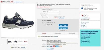 lowest price b3a81 c7fe7 뽐뿌:해외뽐뿌 - [ebay] New Balance Womens Classics 993 ...